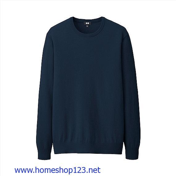 Áo Len Nam Cotton Uniqlo 137022 - 69 Navy