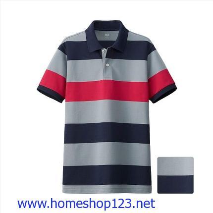 Áo Phông Polo Nam Uniqlo Kẻ Ngang 3 Màu