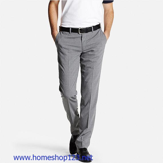 Quân Vải Nam Uniqlo Premium Wool 04 Gray