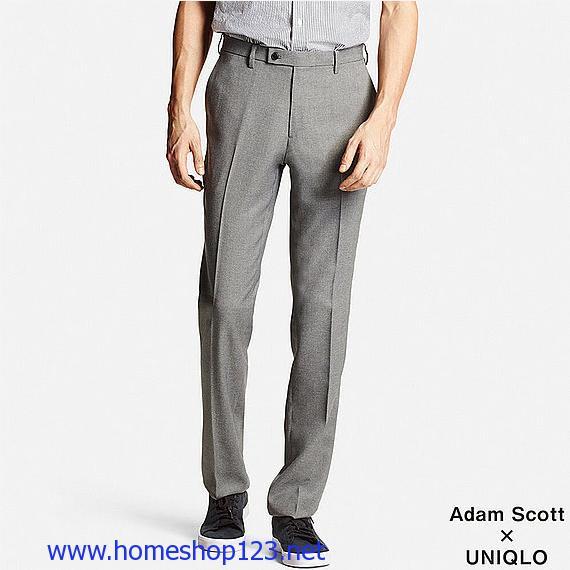 Quần vải nam Uniqlo Adam Scott Dry 03 Gray