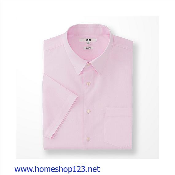 Áo Sơ Mi Nam ngắn tay Uniqlo 169228 - 11 Pink