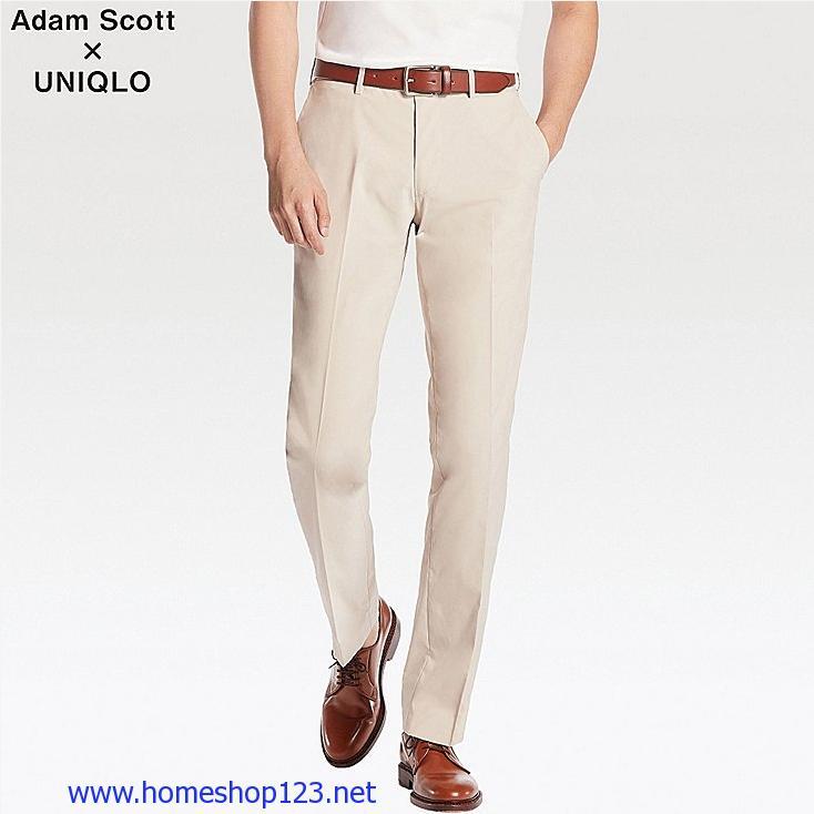 Quần Vải Gió Uniqlo Adam Scott Dry 31 BEIGE