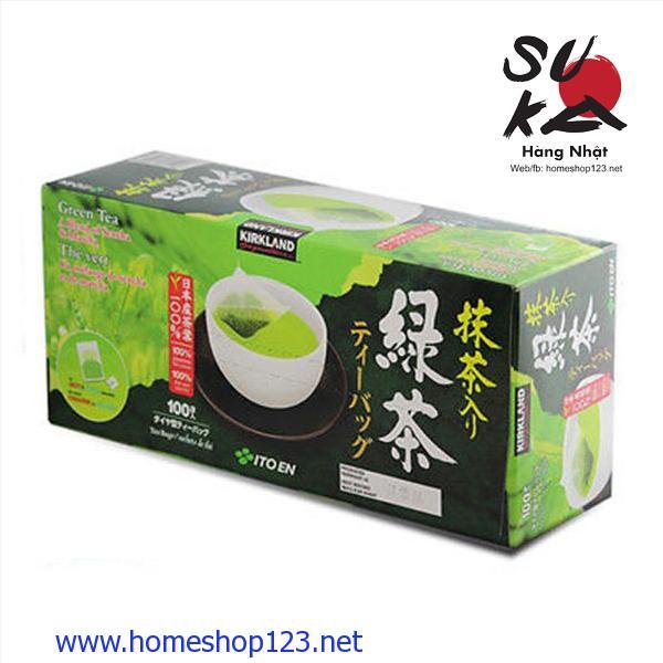 Trà xanh KirkLand Green Tea Nhật Bản 100 gói