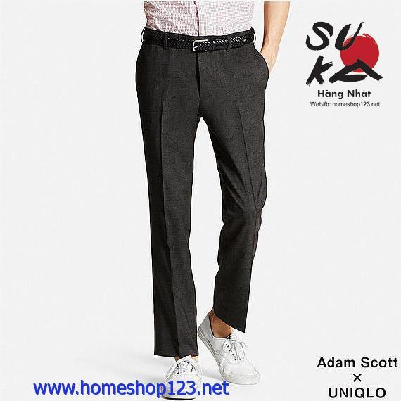 Quần vải nam Uniqlo Adam Scott Dry 08 Dark Gray
