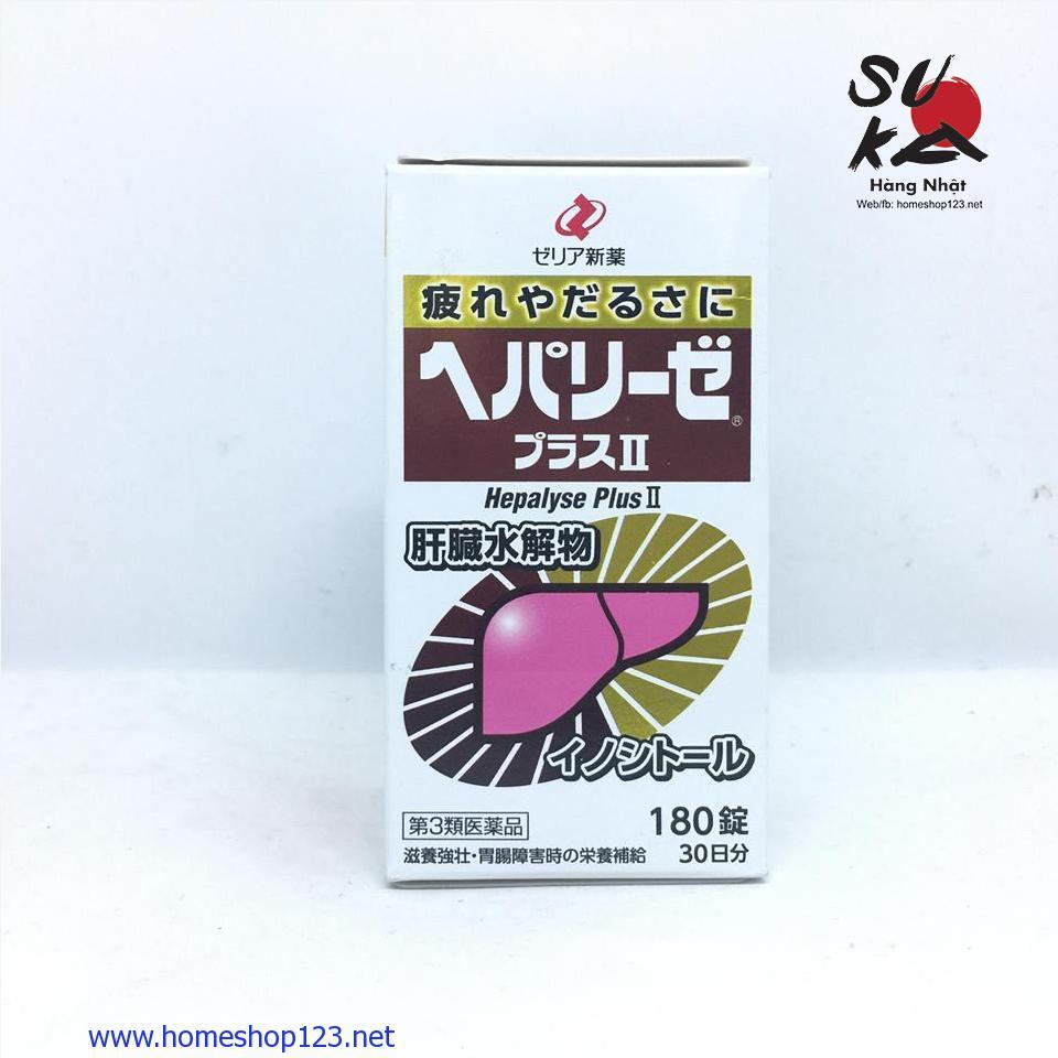 Thuốc bổ gan Hepalyse Plus II - 180 viên Nhật Bản