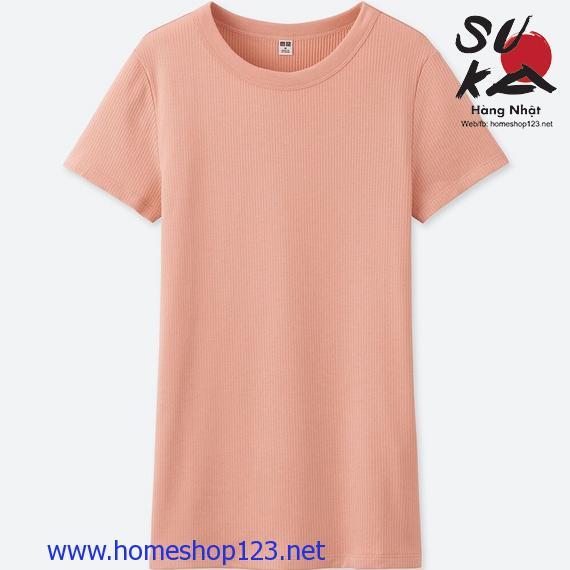 Áo Thun Tăm Nữ Nhật Bản Uniqlo 188197-11 Pink