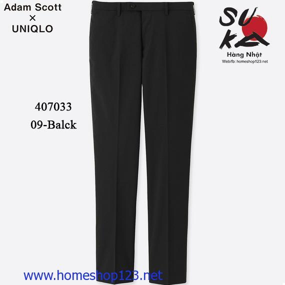 Quần Vải Gió Uniqlo Adam Scott Dry 09 BLACK