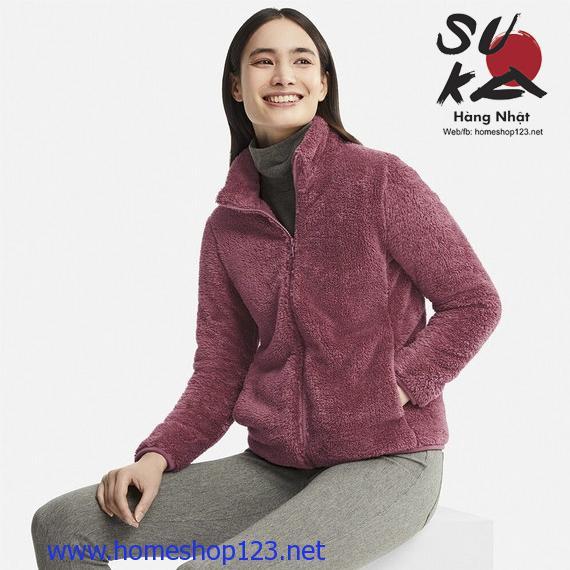 Áo Khoác Lông Xù Nữ Uniqlo Nhật Bản 408699-12 Pink