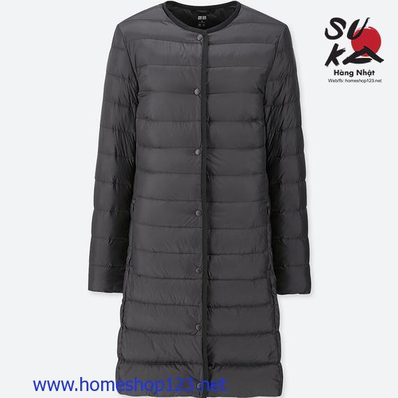 Áo Lông Vũ Dáng Dài Siêu Nhẹ Uniqlo Nhật Bản 409117-09 Black