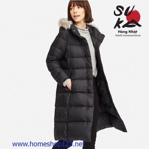 Áo lông vũ dáng dài siêu ấm Uniqlo Nhật Bản 409122-09 Black