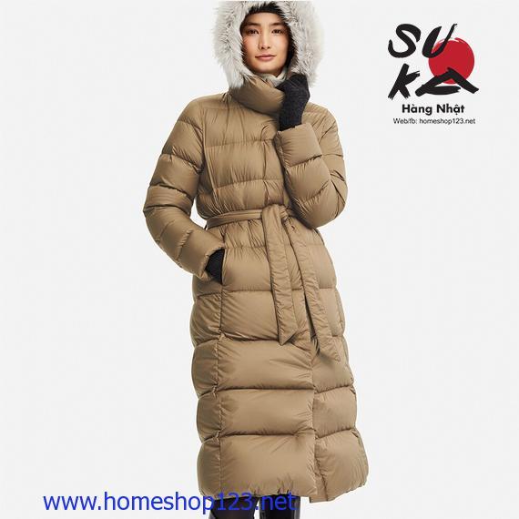 Áo lông vũ dáng dài siêu ấm Uniqlo Nhật Bản 409122-35 Brown