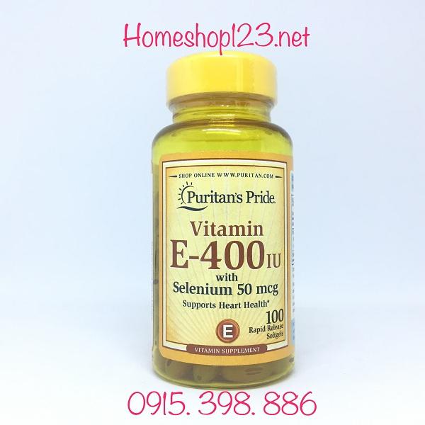 Puritans Pride Vitamin E 400 IU 025077509188