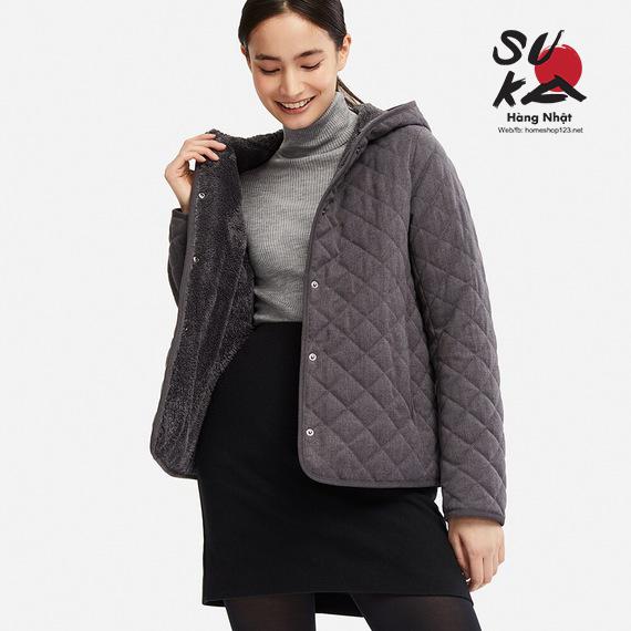 Áo khoác Lông Cừu Trần Trám Uniqlo - 409106 - 08 Dark Gray