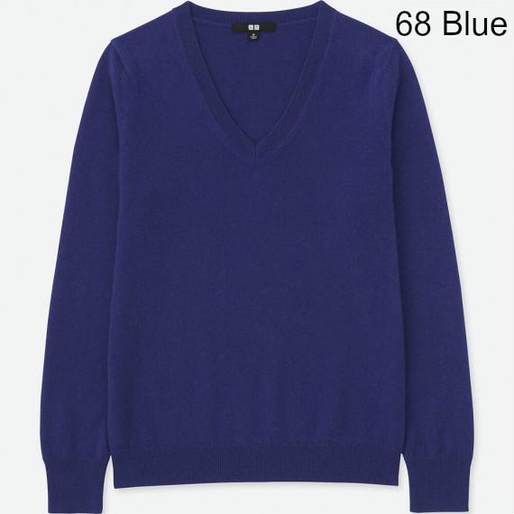 áo len nữ cashmere uniqlo cổ tim