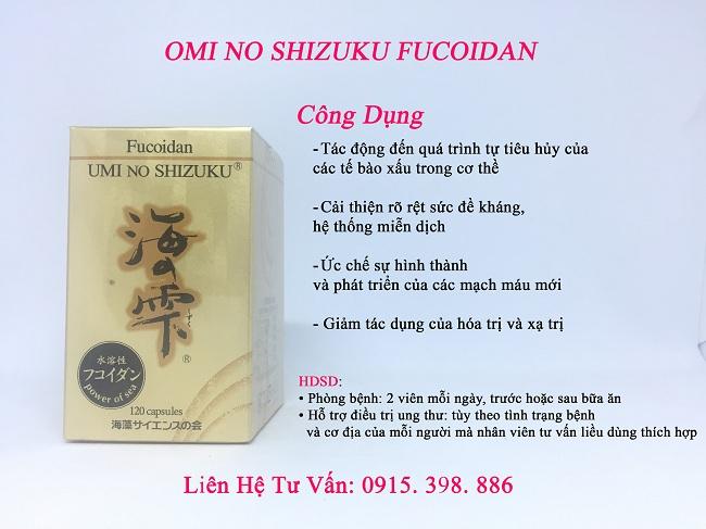 công dụng của fucoidan umi no shizuku