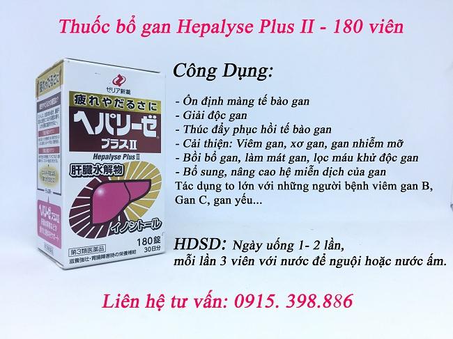 công dụng thuốc bổ gan hepalyse plus