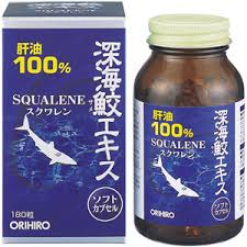 Dầu gan cá mập Squalene 100% Orihiro 180 viên Nhật Bản