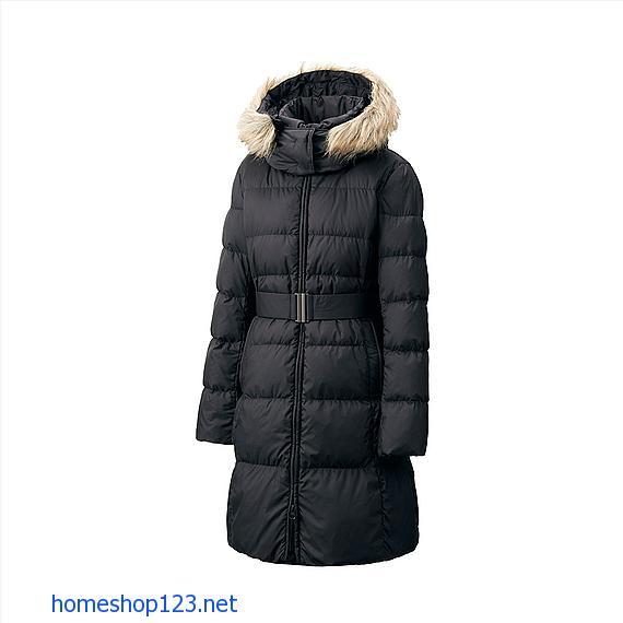 Áo lông vũ dáng dài siêu ấm Uniqlo 2014 - 09 Black
