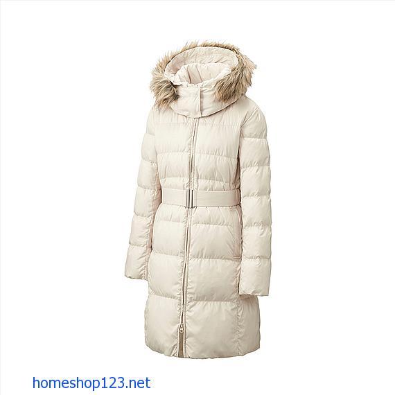 Áo lông vũ dáng dài siêu ấm 2014 01 White