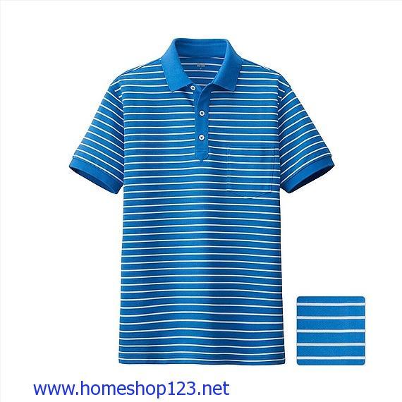 Áo Phông Polo Nam Dry Kẻ Ngang -Năng Động-Cá Tính