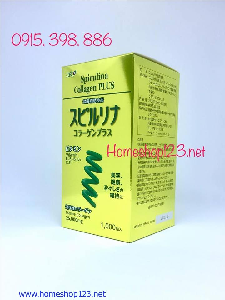Tảo Vàng Cao Cấp Spirulina Collagen Plus 1000v Nhật Bản