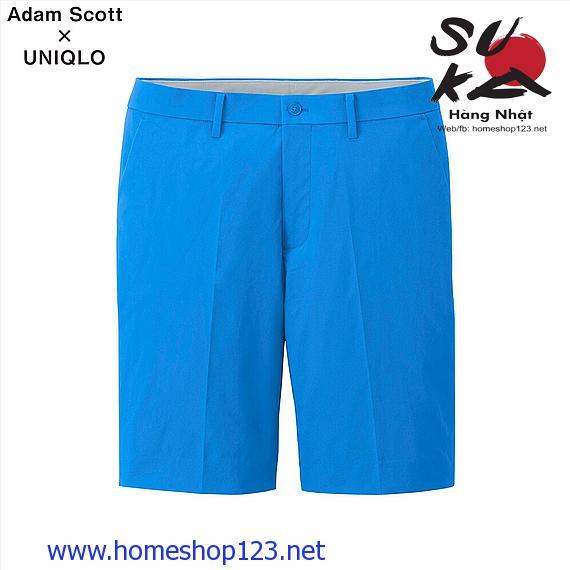 Quần Shorts Vải Gió Adam Scott UNIQLO 64 Blue