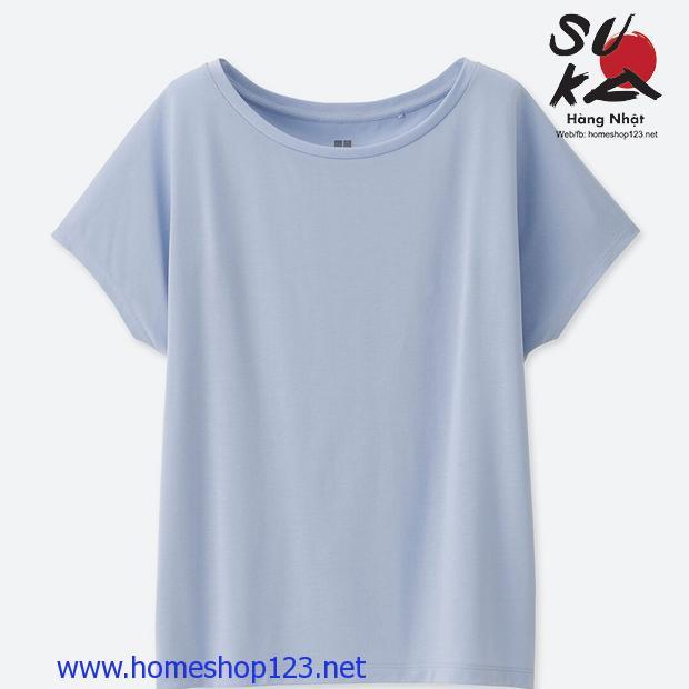 Áo phông nữ cánh dơi Uniqlo 182170-61 Blue