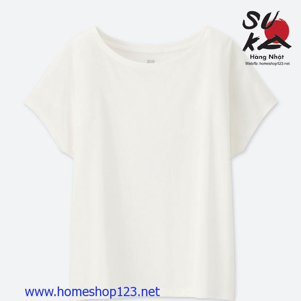 Áo phông nữ cánh dơi Uniqlo 182170-01 Off White