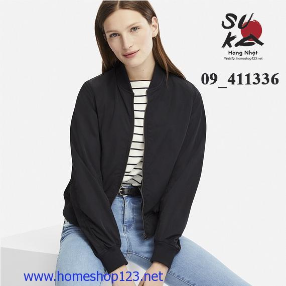 Áo Bomber Nữ Uniqlo - 411336_09 Black