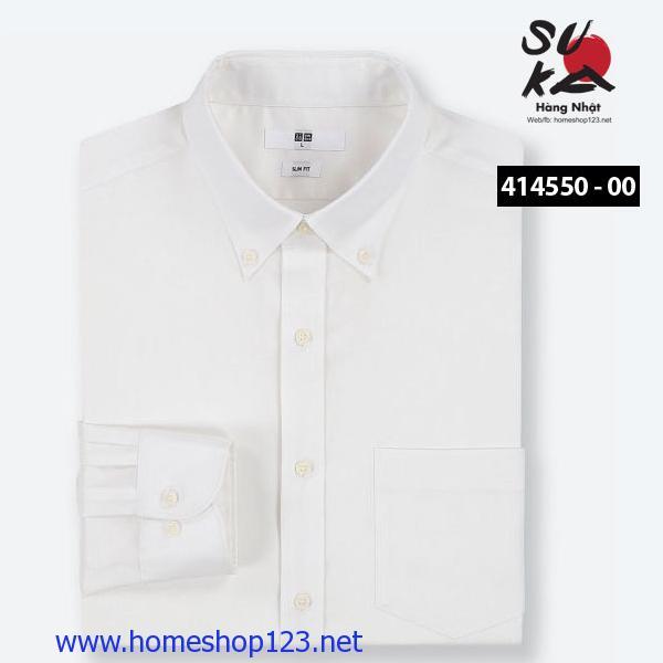 Áo sơ mi Nam Nhật Bản Uniqlo 414550 - 00 White