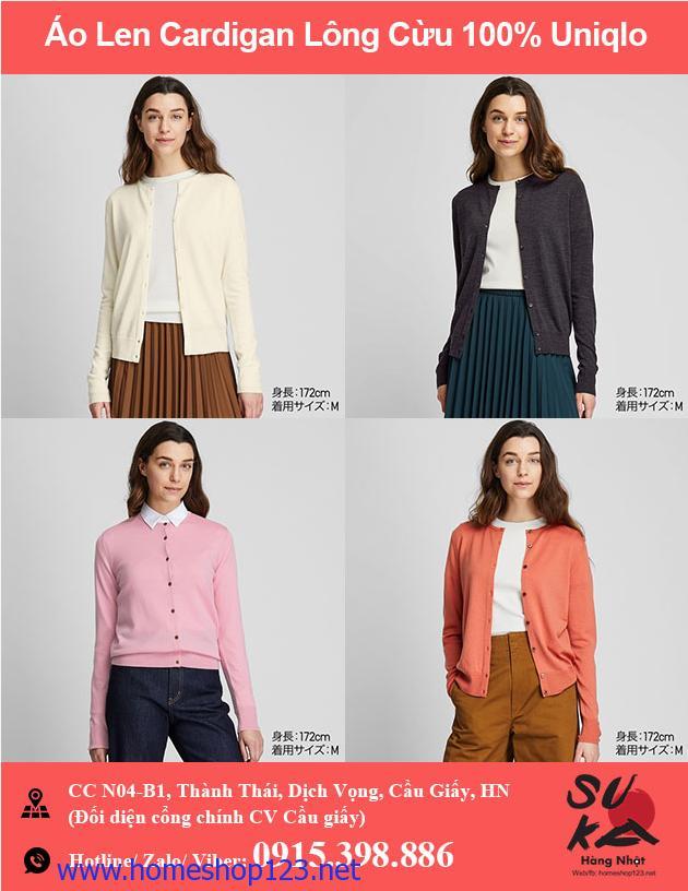 Áo len Cardigan lông cừu 100% Uniqlo - 418666