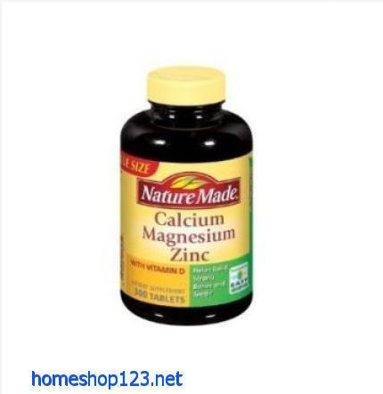 Nature Made Calcium Magnesium và kẽm 300 viên