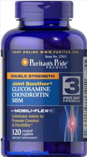 Glucosamin, Chondroitin MSM 120 viên- Puritan's Pride