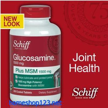 Schiff Glucosamine 200 viên công thức mới (loại mới nhất có bổ sung Joint Fluid)