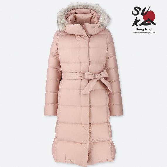 Áo lông vũ dáng dài siêu ấm Uniqlo Nhật Bản 409122-10 Pink
