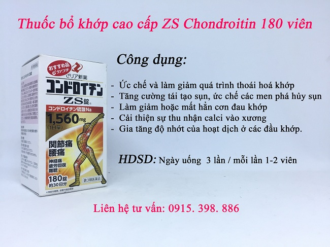 công dụng thuốc bổ khớp nhật bản zs chondroitin